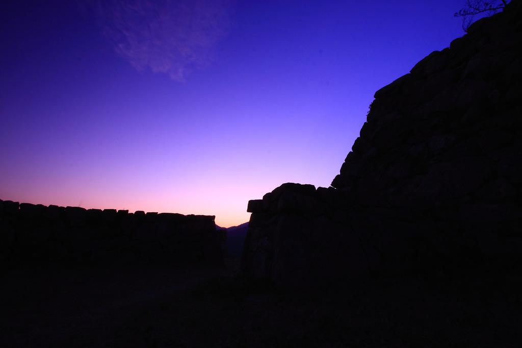 夕闇の城郭