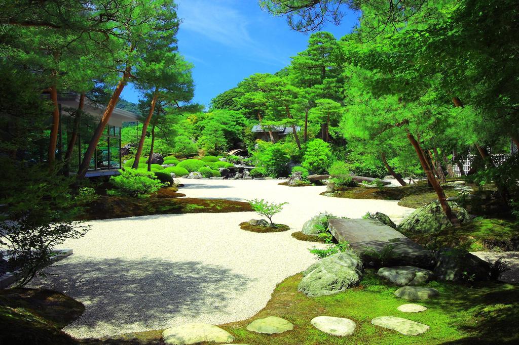 美術館の庭園