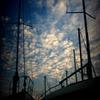ヨットと秋の空