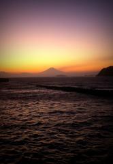 渚橋の夕焼け
