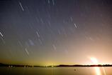 湖畔に降る星
