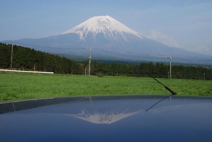 富士山とマイカー