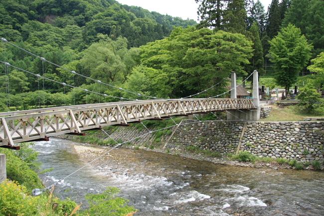 白馬 大出の吊り橋