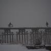 京都流れ橋^と^雪景気^と^生活の橋