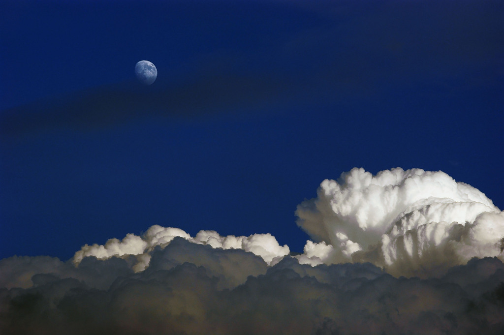 月を狙う雲