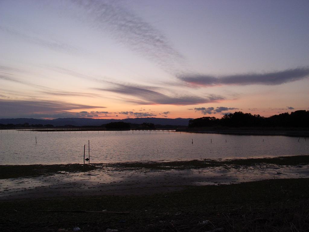 海と夕焼け