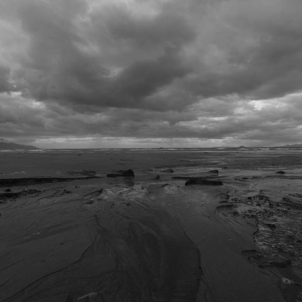 砂浜の流れ