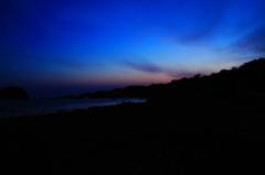 海辺の朝焼け