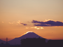 さいたまから見える富士