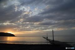 原岡海岸の夕景