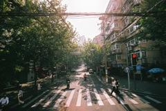 上海市内の交差点