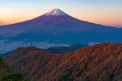 三ッ峠からの秋富士