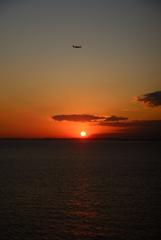 海ほたるから夕陽