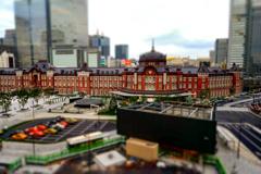 東京駅、ミニチュア風
