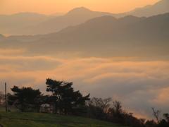 高原の朝焼け