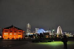 夜の横浜赤レンガ倉庫