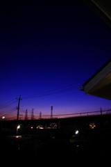 これはいつものように徹夜明けの夜明け