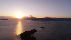 びわ湖の夕日