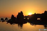 橋杭の日出