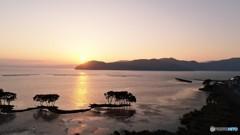 湖北の夕日
