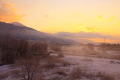 姉川古戦場の冬