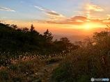 夕焼けの下山
