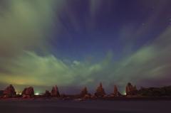 星空の橋杭岩
