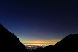 夜明けの夜景