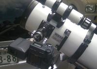 部分日食を撮影