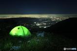 テント泊で夜景