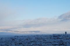 町も雪化粧