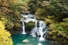 色づく大轟の滝