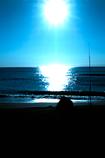 釣り人と太陽