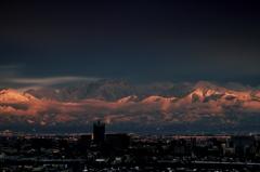 夕刻の立山連峰
