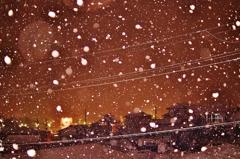 赤い雪の夜
