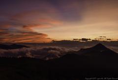 遙かなる山の夕暮れ
