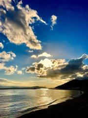 遠く明石海峡を眺め・・