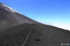 馬の背から富士山の斜面