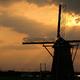 印旛沼・風車 - 黄金色の光芒 -