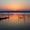 印旛沼・朝景 - 穏やかな旭日 -