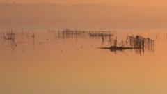 印旛沼・朝景 - 暁色に佇む -