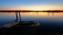 印旛沼・朝景 - 静閑の小舟 -
