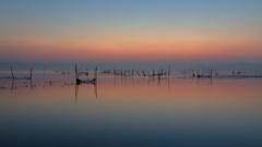 印旛沼・朝景 - 陶酔の彩り -