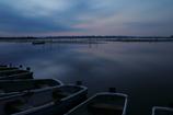印旛沼・朝景 - 黴雨の夜明け -