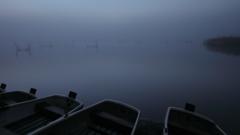 印旛沼・朝景 - 秋霧の夜明け -