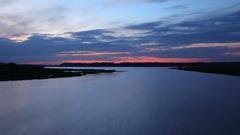 印旛沼・夕景 - 最大流入河川の夕暮れ -