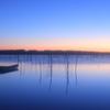 印旛沼・朝景 - 蒼霞の夜明 -