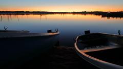 印旛沼・朝景 - 沈黙の濃密な輝き -