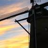 印旛沼・風車 - 秋の黄昏 -