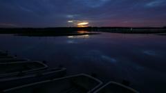 印旛沼・朝景 - 小舟が消えた定点 -